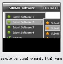 Sample Vertical Dynamic Html Menu