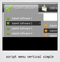 Script Menu Vertical Simple
