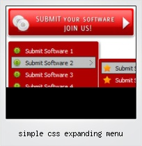 Simple Css Expanding Menu