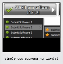 Simple Css Submenu Horizontal