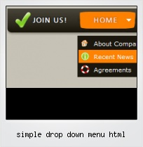 Simple Drop Down Menu Html