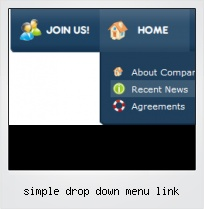 Simple Drop Down Menu Link