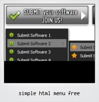 Simple Html Menu Free
