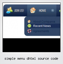 Simple Menu Dhtml Source Code