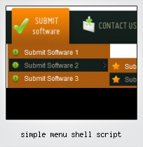 Simple Menu Shell Script