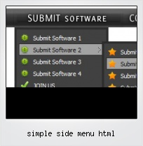 Simple Side Menu Html