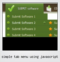 Simple Tab Menu Using Javascript