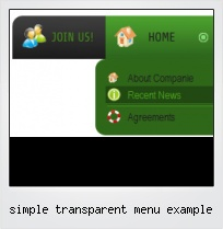Simple Transparent Menu Example