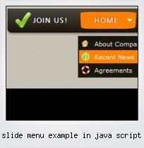 Slide Menu Example In Java Script