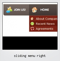 Sliding Menu Right