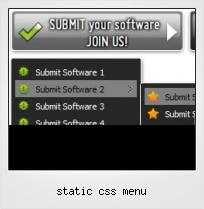 Static Css Menu