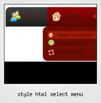 Style Html Select Menu