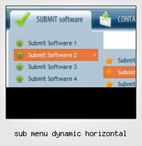 Sub Menu Dynamic Horizontal