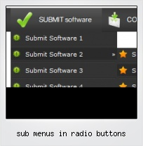 Sub Menus In Radio Buttons