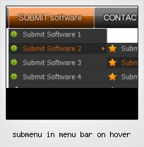 Submenu In Menu Bar On Hover