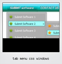 Tab Menu Css Windows
