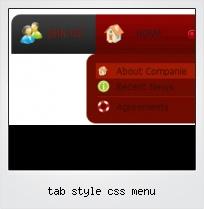 Tab Style Css Menu