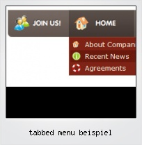 Tabbed Menu Beispiel