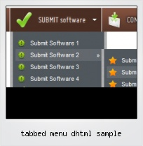 Tabbed Menu Dhtml Sample