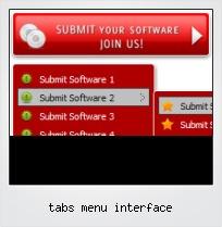 Tabs Menu Interface