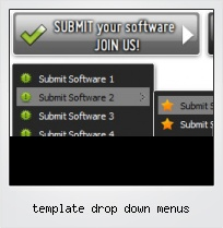 Template Drop Down Menus