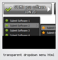 Transparent Dropdown Menu Html