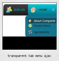 Transparent Tab Menu Ajax