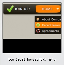 Two Level Horizontal Menu