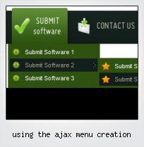 Using The Ajax Menu Creation