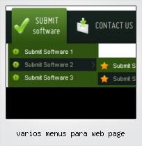 Varios Menus Para Web Page