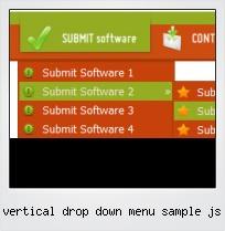 Vertical Drop Down Menu Sample Js