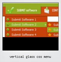 Vertical Glass Css Menu
