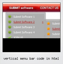 Vertical Menu Bar Code In Html