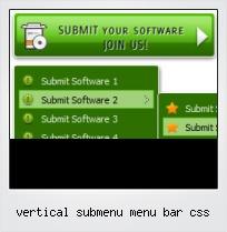 Vertical Submenu Menu Bar Css