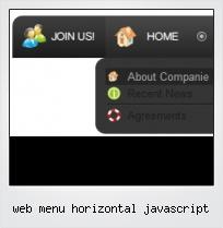 Web Menu Horizontal Javascript