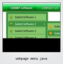 Webpage Menu Java