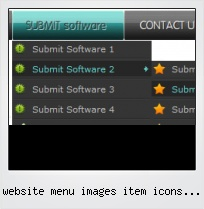 Website Menu Images Item Icons Graphics