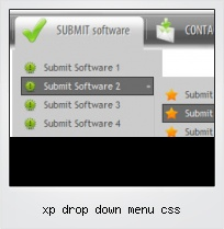 Xp Drop Down Menu Css