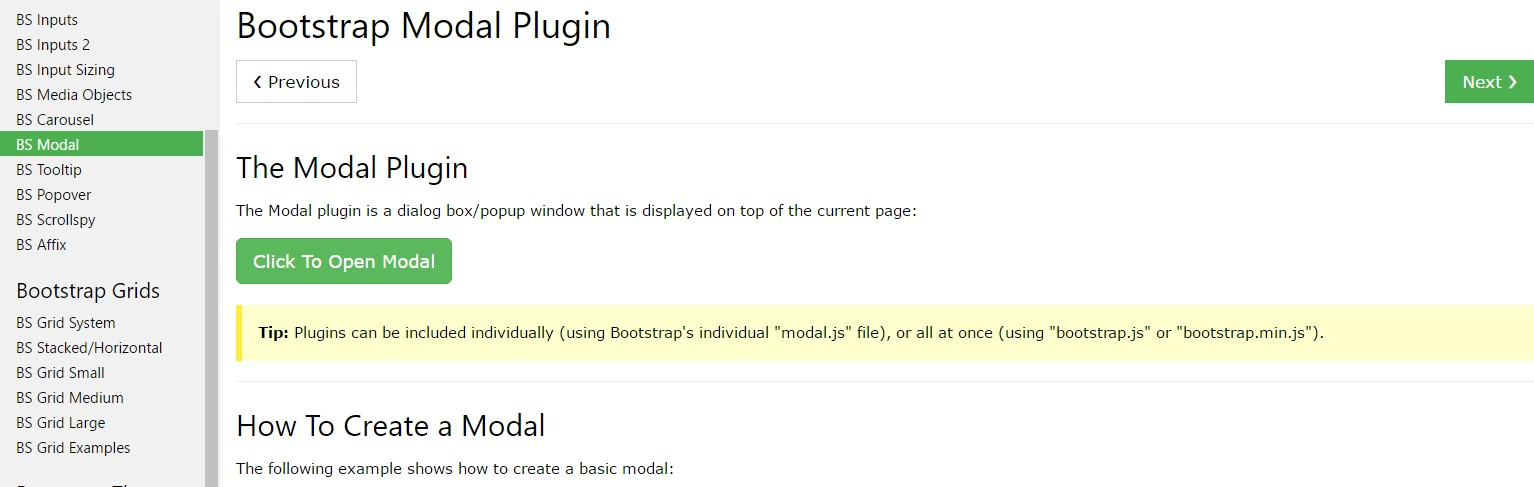 Bootstrap Modal Popup:  information  information