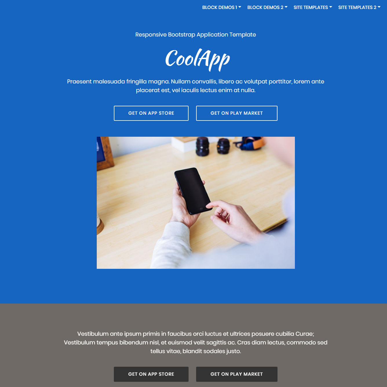 HTML5 Bootstrap Application Templates