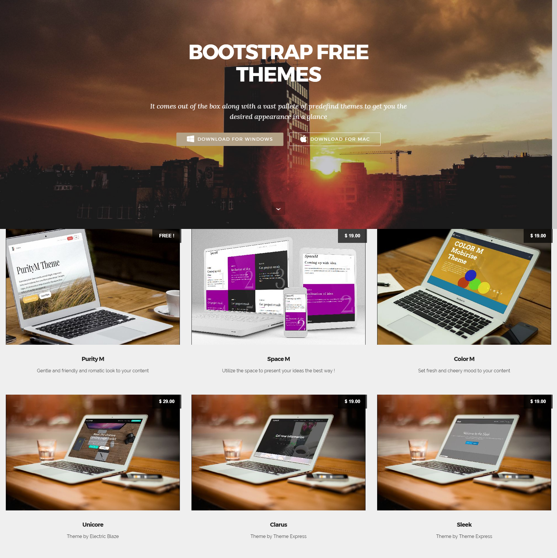 CSS3 Bootstrap Mobile-friendly Themes