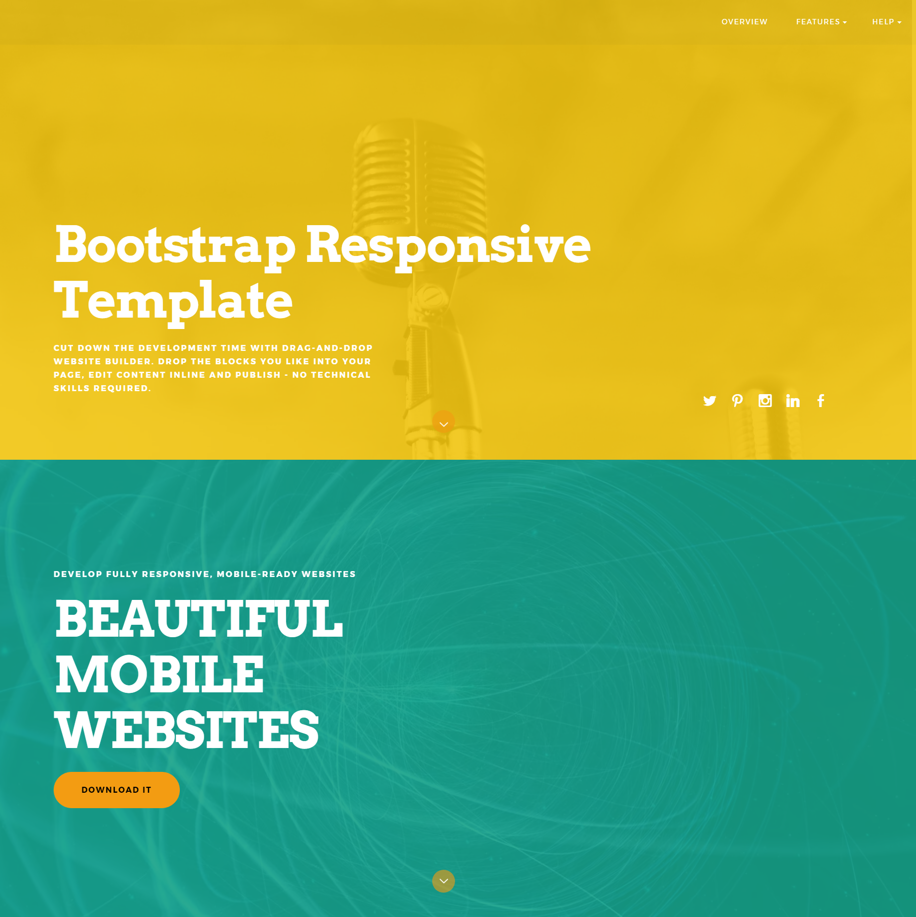 CSS3 Bootstrap ColorM Templates