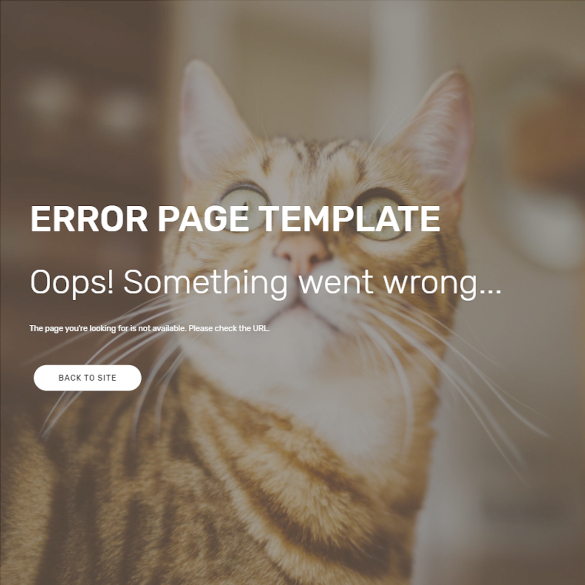HTML5 Bootstrap Error Templates