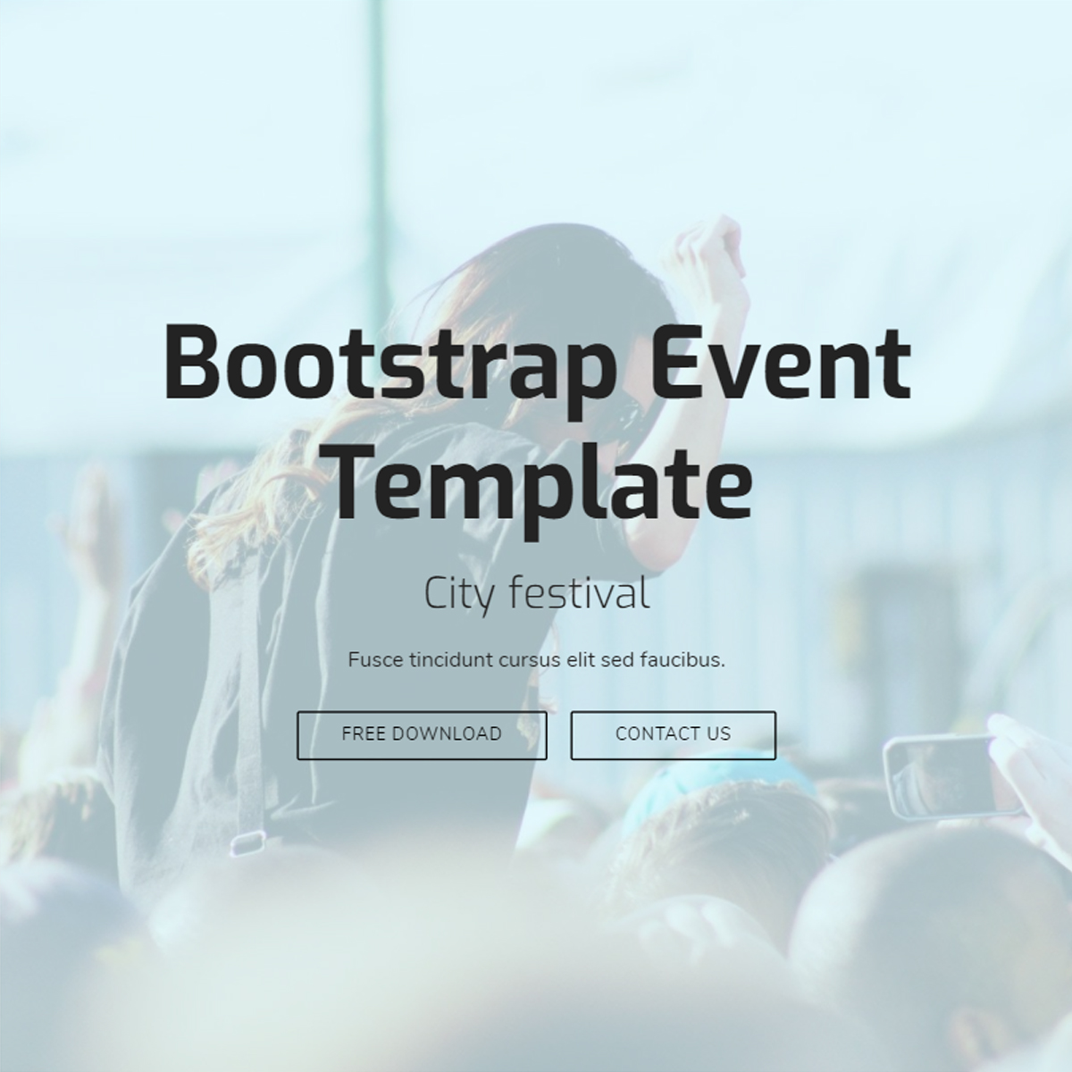 Responsive Bootstrap Event Templates