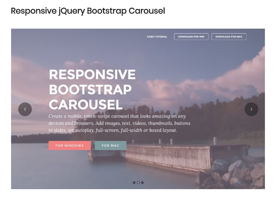 Bootstrap Carousel Video