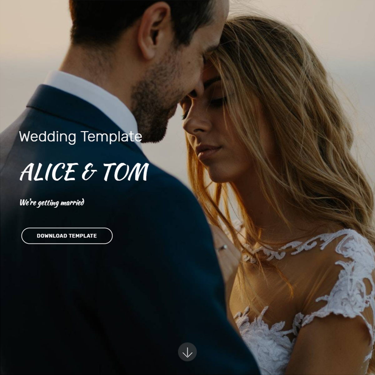 Responsive Bootstrap Wedding Templates