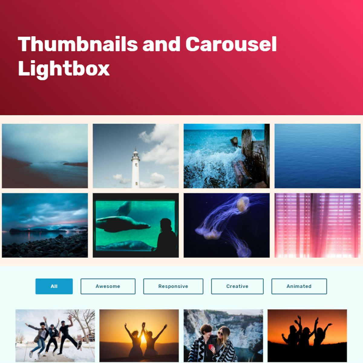 CSS3 Bootstrap Photo Carousel