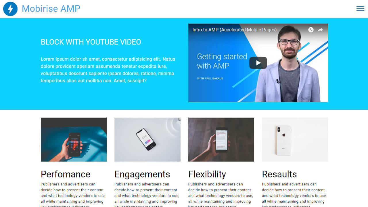 New AMP Features Template