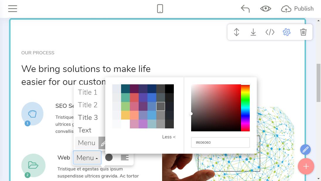 HTML Website Design Creator