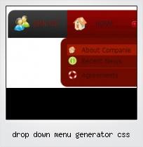 Drop Down Menu Generator Css